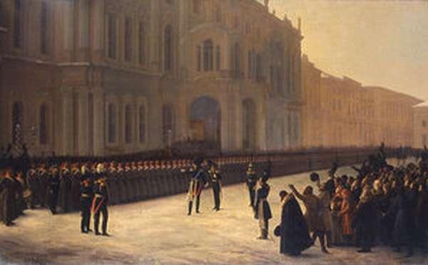 Зимний дворец в декабре 1825 г.