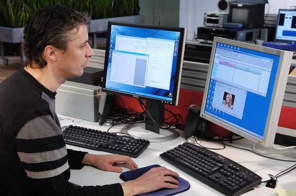 Веб-программист за работой