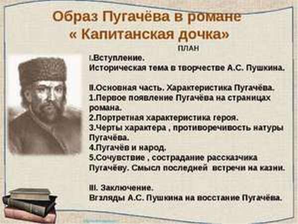 Капитанская дочка описание Пугачёва
