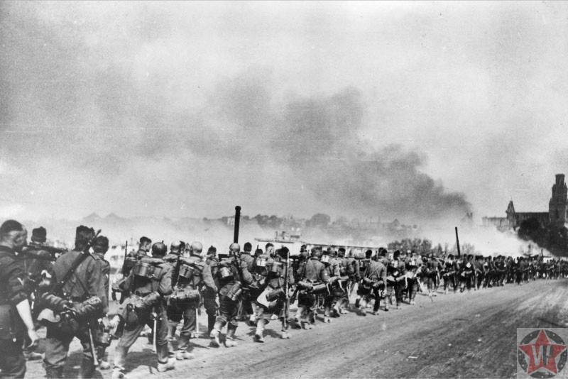 Немецкая пехота, фото 1941 год