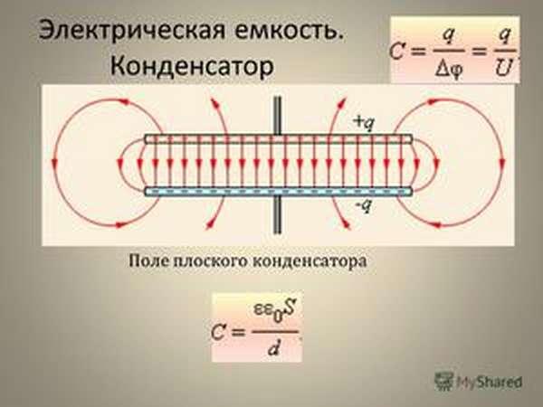 Расчет емкостей различных конденсаторов