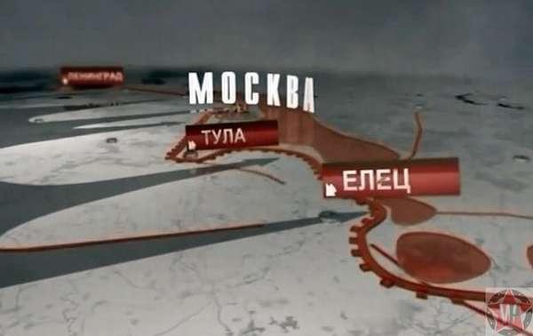 Расположение города Елец относительно Москвы