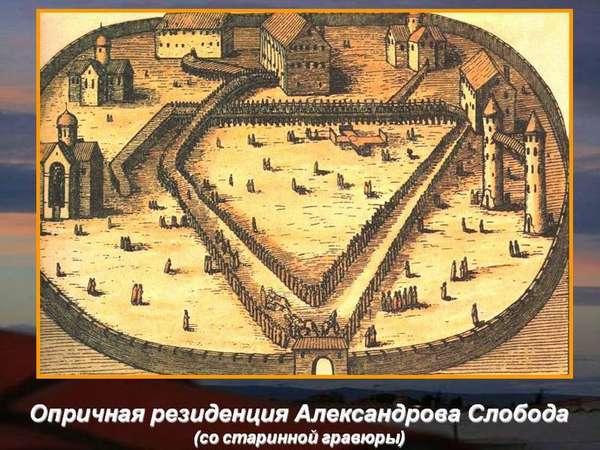 Опричная резиденция Александрова Слобода