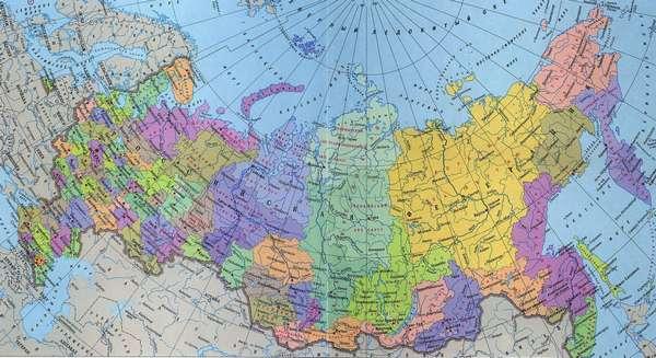 Карта России по областям