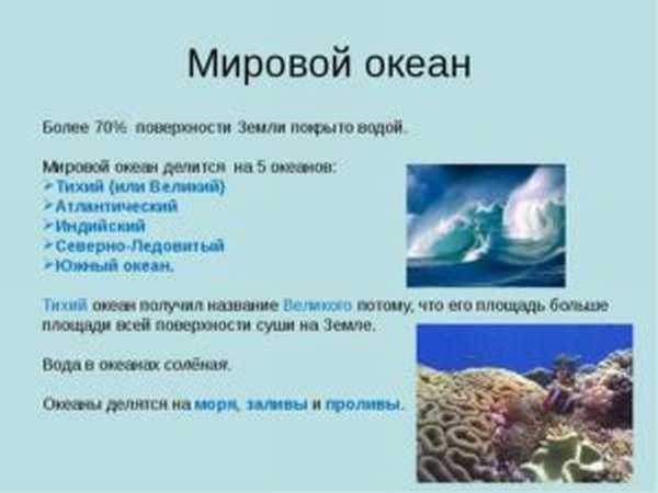 сколько океанов на земле 5 или 4