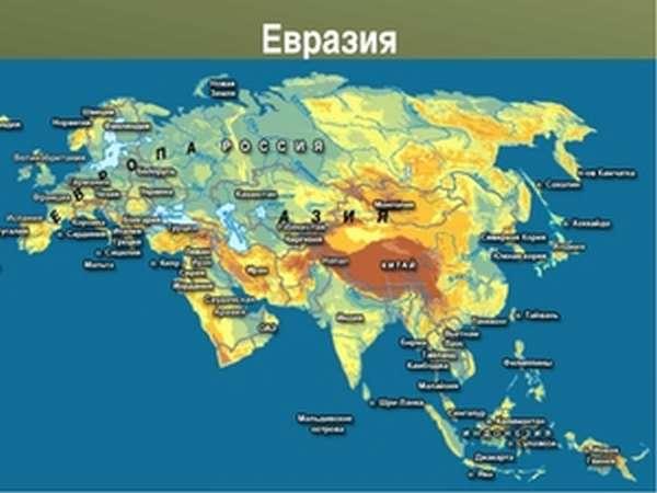 Самый большой материк Евразия