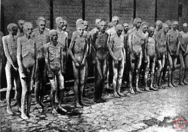 Проверка узников Освенцима