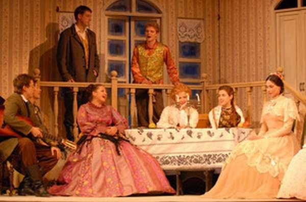 Сцена из пьесы Островского Бедность не порок