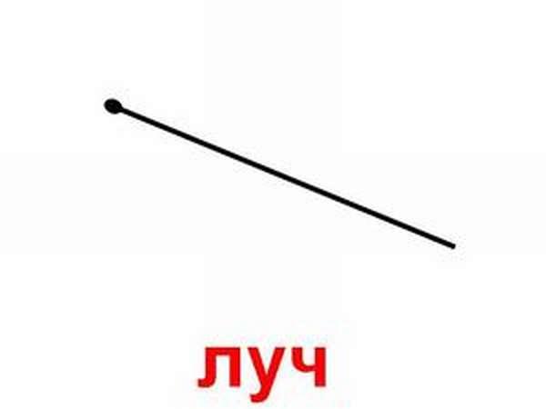 Луч в геометрии