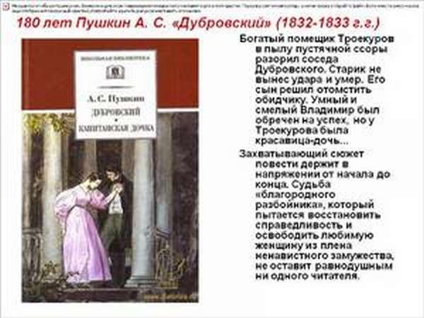 План «Дубровского» по главам