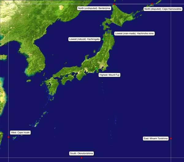 географическое положение японии (главный ключ)