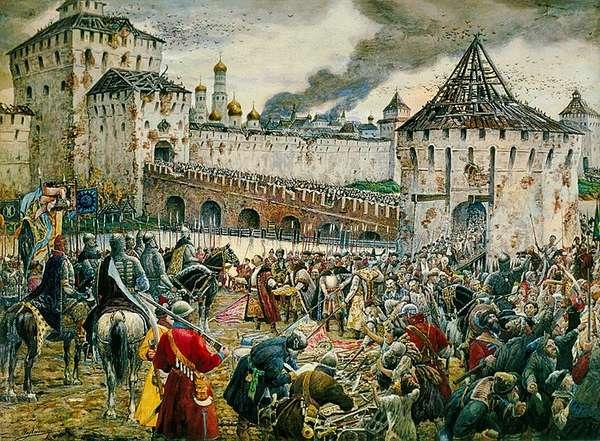 Освобождение Москвы от поляков Мининым и Пожарским в 1612 г