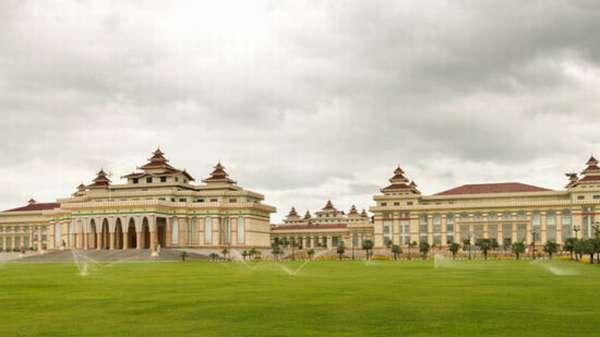 здание парламента в Мьянме