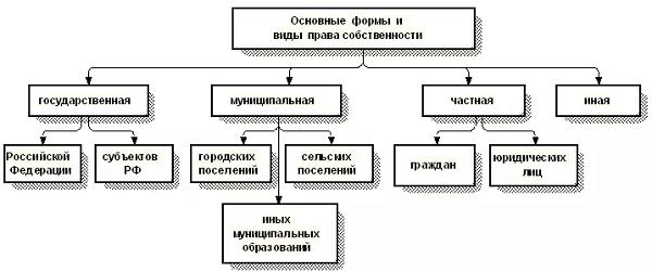 Право собственности понятие и содержание, виды и формы