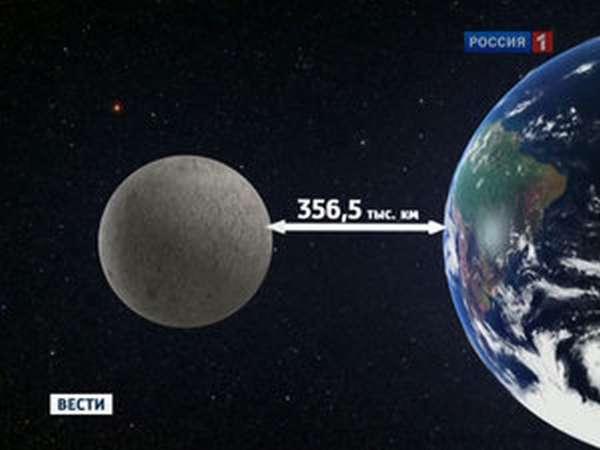 Расстояние между Луной и Землей