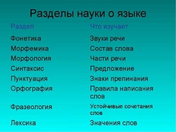 Область изучения языка