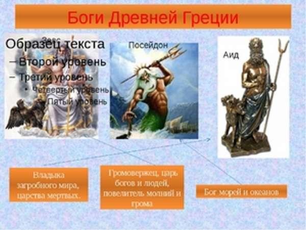 Боги в древней Греции
