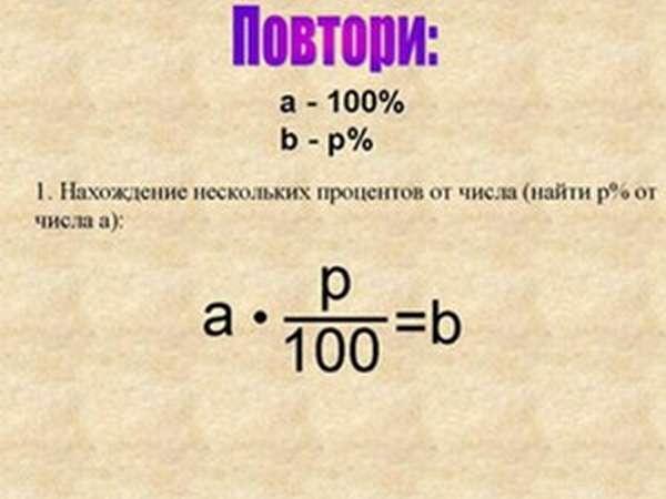 Как найти процент от числа