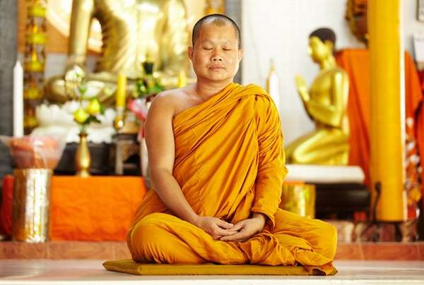в медитации