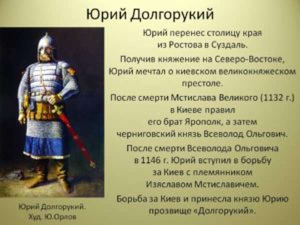 юрий долгорукий википедия