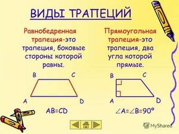 Трапеция четырехугольника