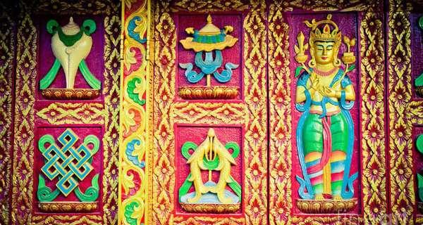 золотые рыбки, Будда