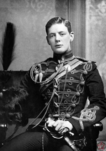Уинстон Черчилль во время военной службы