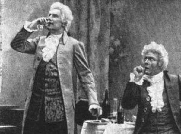 Моцарт выпивает яд