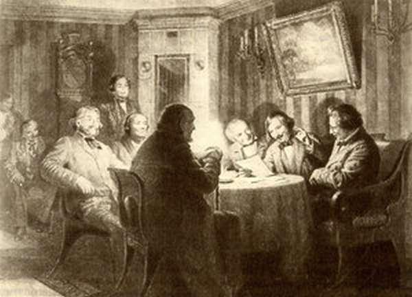 Гоголь лично читает главы из Ревизора - исторические фото