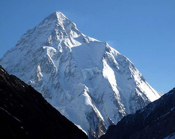 Высота горы К2