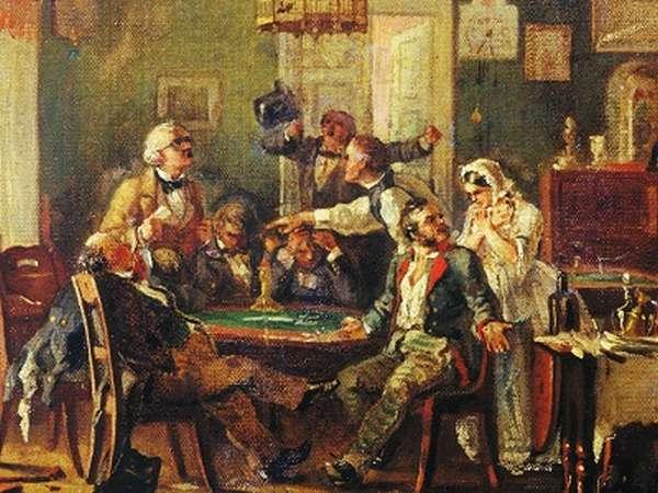 гусары играют в карты
