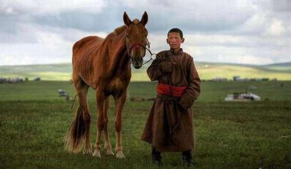 пастух с конем