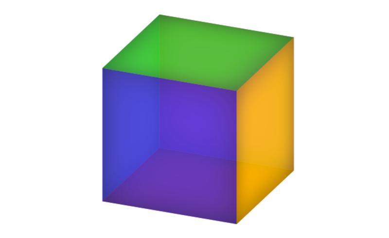 Куб с разноцветными гранями