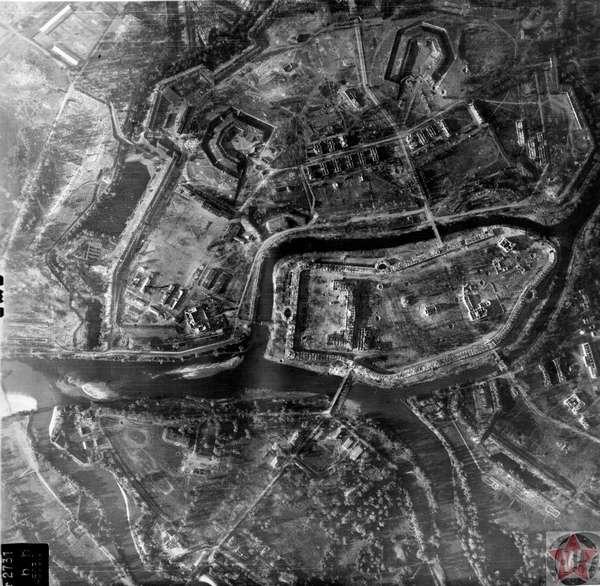 Аэро-съемка, Брестская крепость 1941 год.