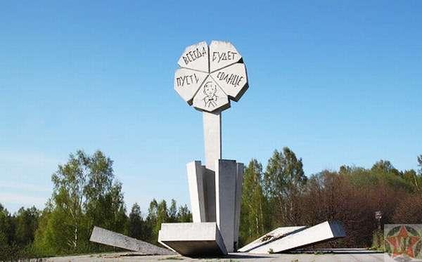 Памятник Цветок жизни на Дороге жизни