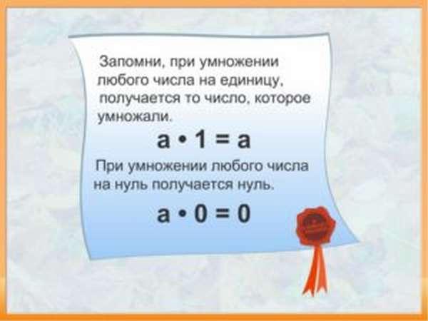 умножение на 0