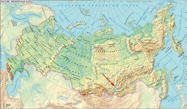 Подробная карта Байкала: базы отдыха, дороги, заливы, мысы