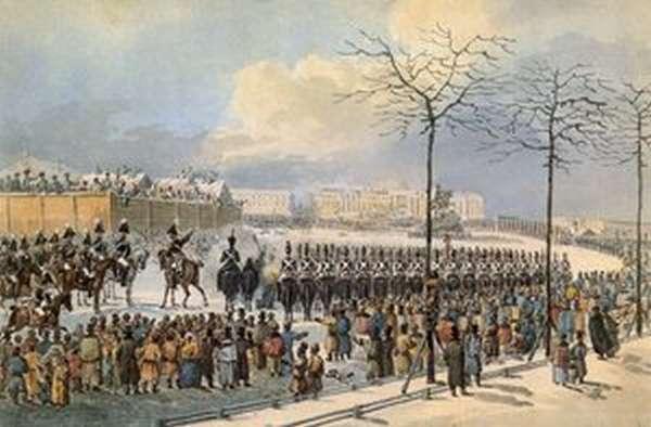 Декабристы в восстании на Сенатской площади
