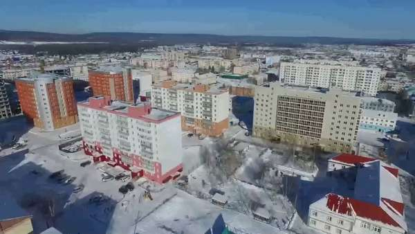 DJI Phanton 3 Adv Ленск. Зима. 2017 - YouTube