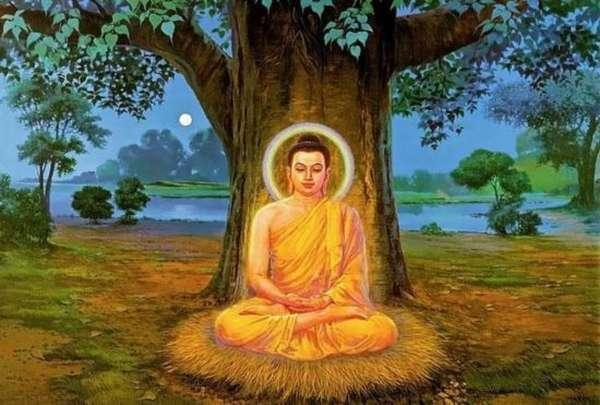 Гаутама под деревом бодхи