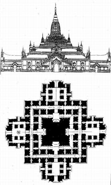 Чертеж храма Ананда