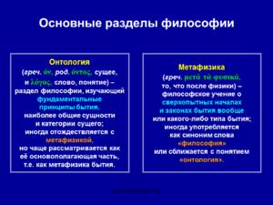 Онтология и ее предмет