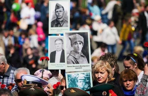 Первое шествие Бессмертного полка в 2012 году в городе Томске