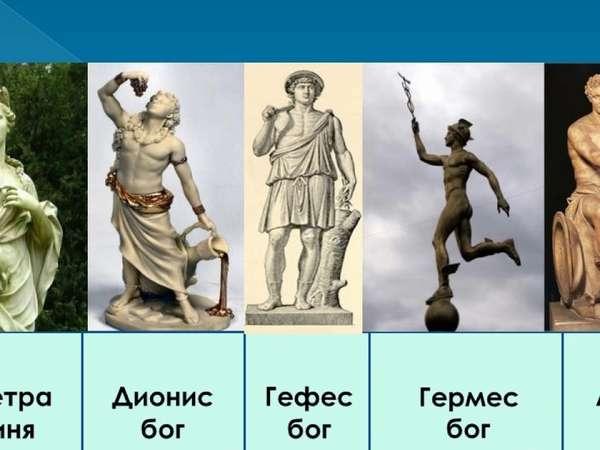 Древнегреческие божества их значение в мифологии
