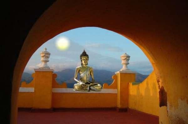 картина на буддийскую тему