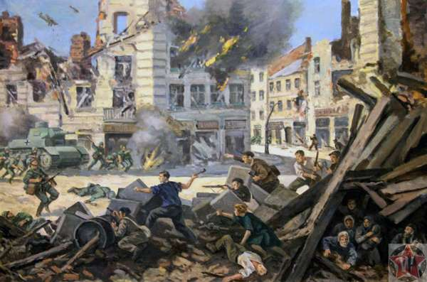 Картина Восстание в Варшавском гетто
