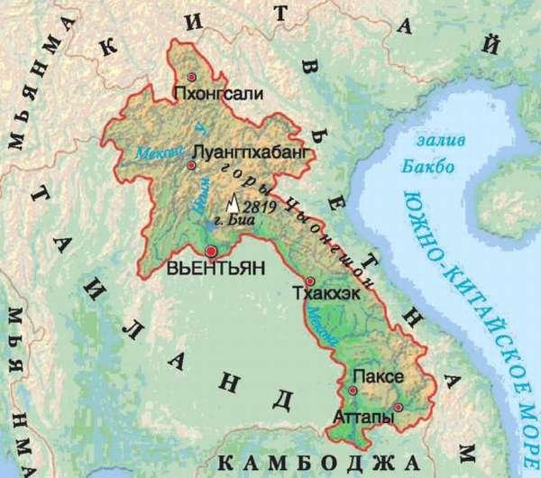 карта востока