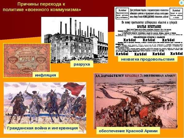 Причины перехода к военному коммунизму