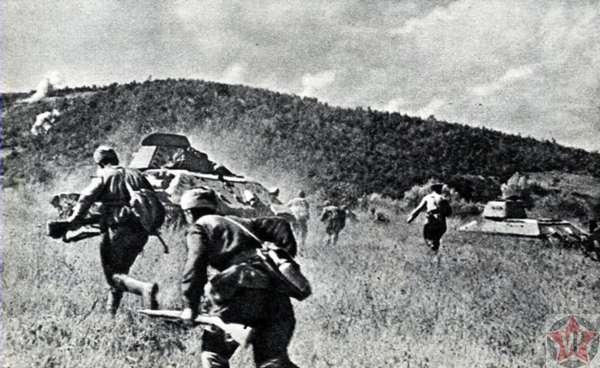 Пехота и танки во время Новороссийско-Таманской операции