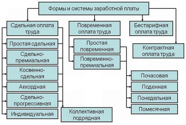 Системы оплаты труда виды и характеристика